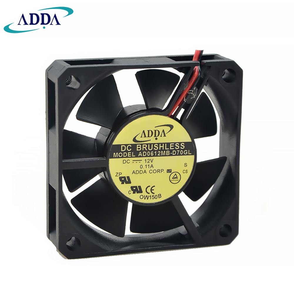 For ADDA AD0612MB-D70GL 6015 DC 12V 0.11A 60*60*15 mm DVR fan power supply fan
