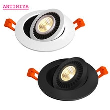 Les Downlights LED enfoncés par intensité réglable dangle de plafonnier dépi allume 7w 9w 12w 15w18w tournant le downlight LED AC85-265V