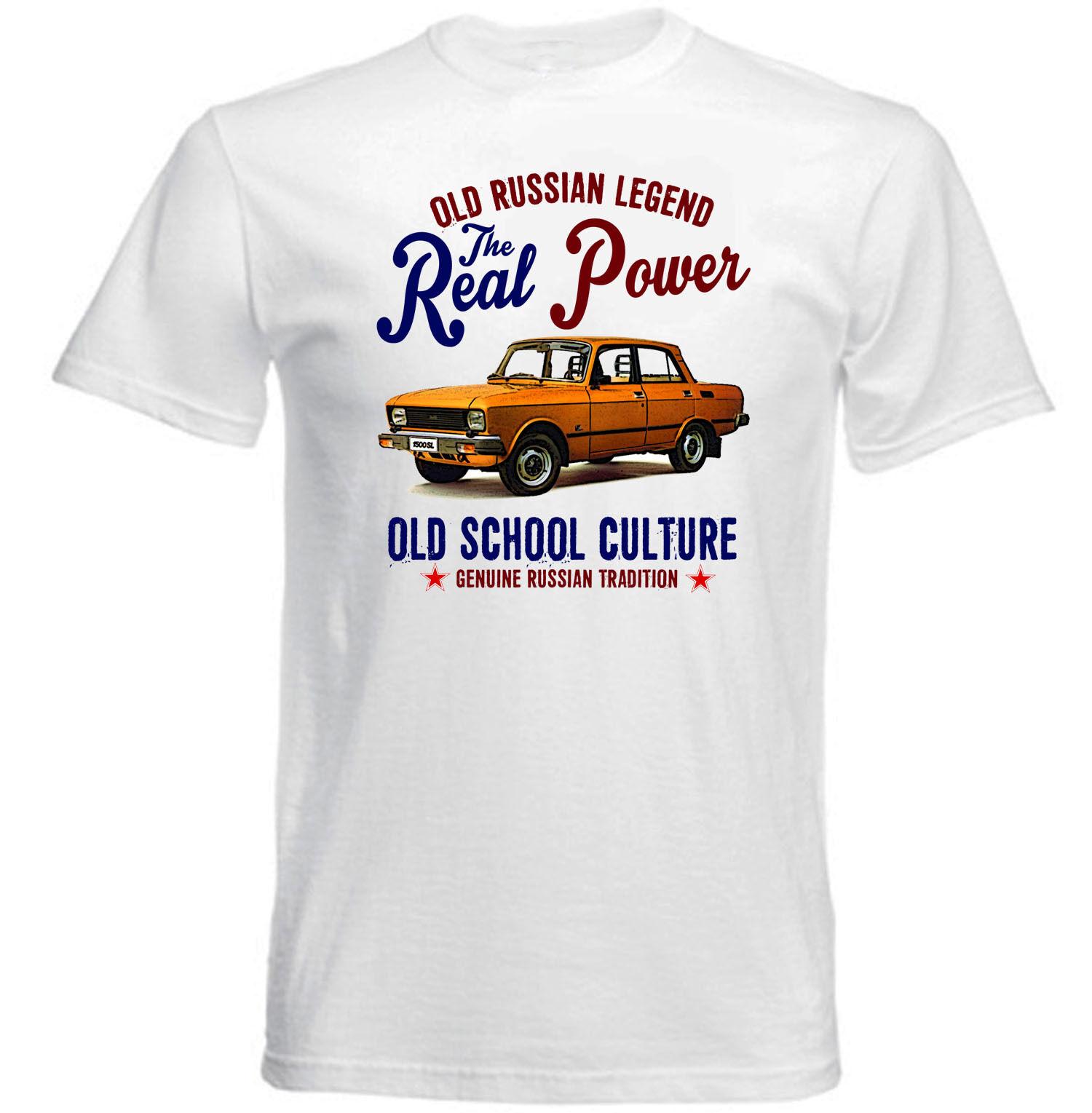 VINTAGE ruso MOSKVICH 2140 CAR-Nueva Camiseta de algodón