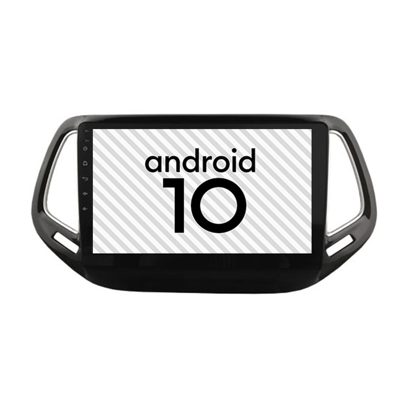 Nuevo coche Android 10,0 Gps unidad principal de alto rendimiento para Jeep Compass Multimedia 2din autorradio Bluetooth Internet Navi