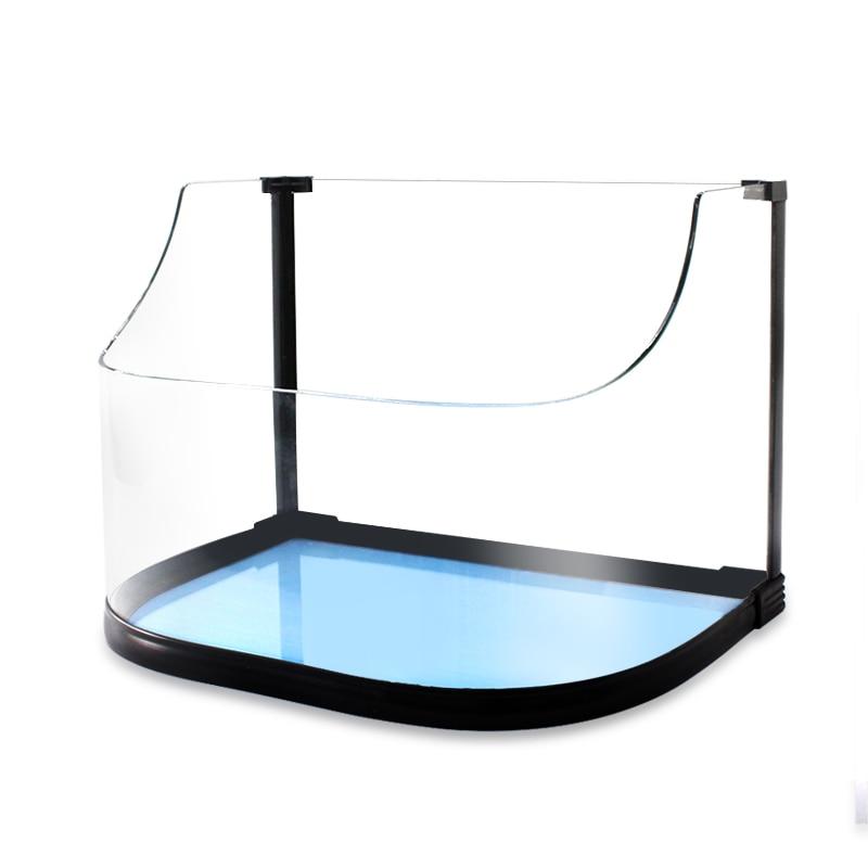 Tanque especial de tortuga con balcón ecológico de vidrio anfibio pequeño pescado Patsy villa