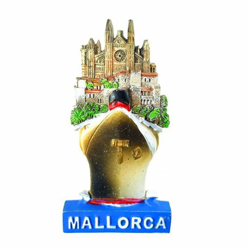 Hand-painted Mallorca, Spain 3D Fridge Magnets Travel Souvenirs Refrigerator Magnetic Sticker Gift