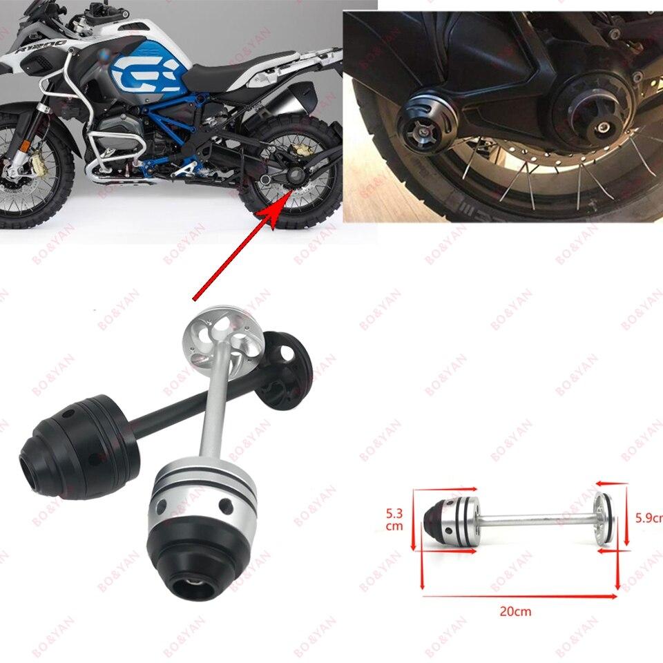 Para bmw r1200gs lc adv gsa r1200 gs rt r1200r 2007-2014 tampa do eixo da forquilha roda traseira da motocicleta acidente protetor deslizante eixo hub