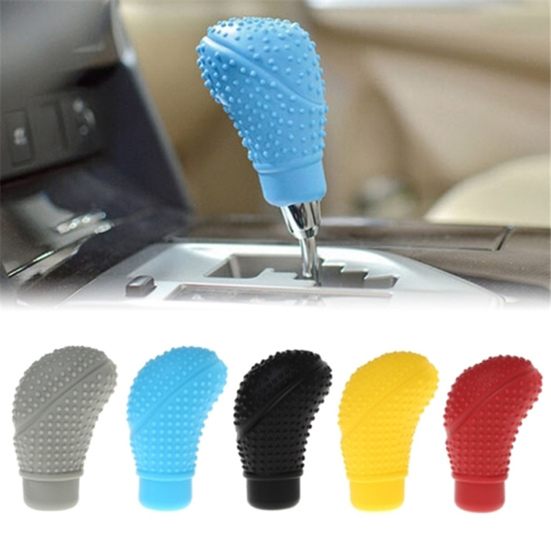 Universal Gear Shift Collars Anti Slip Silicone Manual Automatic Car Gear Shifter Shifter Lever Knob Dust Proof Cover Protector недорого
