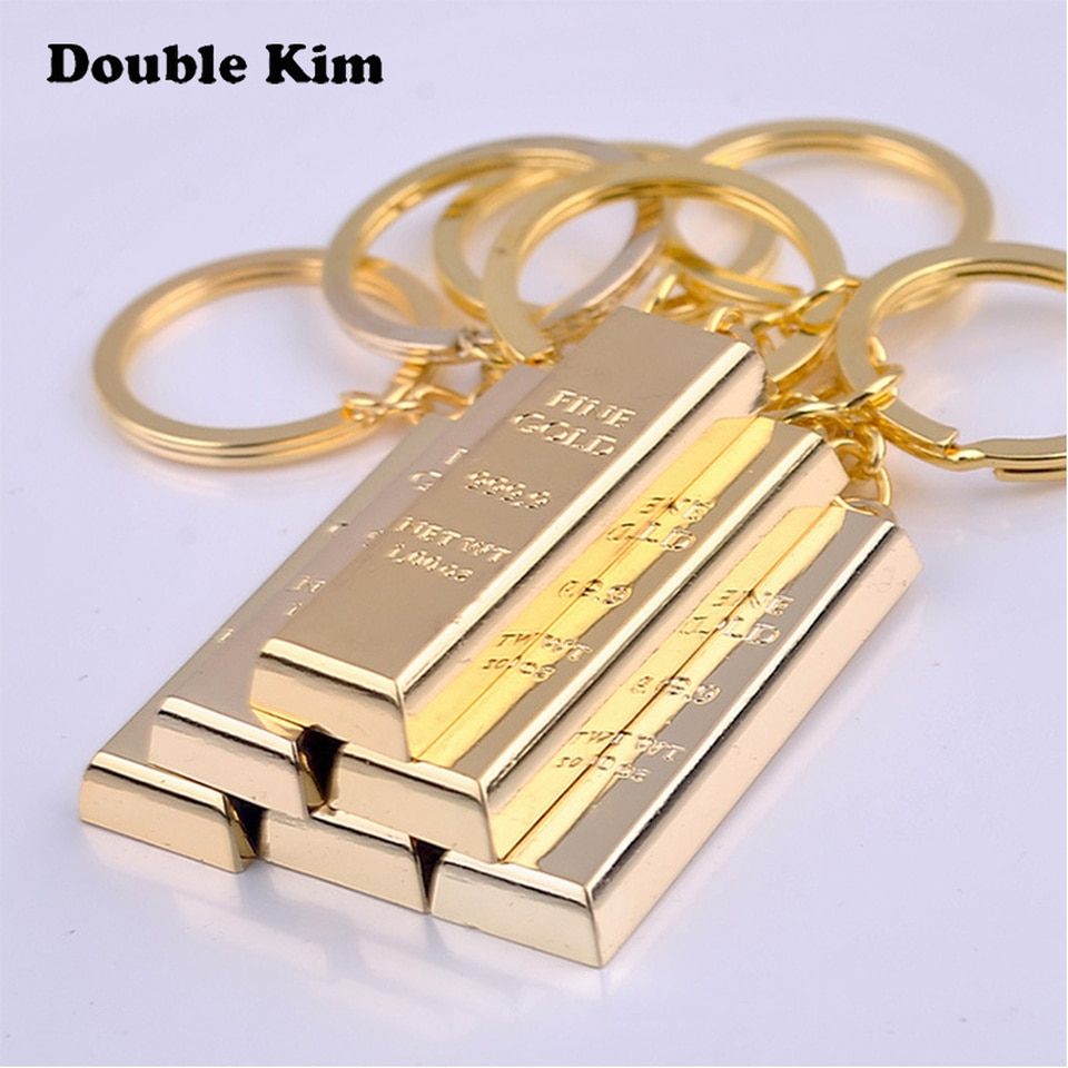 Creative Bullion KeyChain Customized Antilost Key Chain  Small Chic Keyring for Men Women DIY Engrave Name Custom Gift jewelry