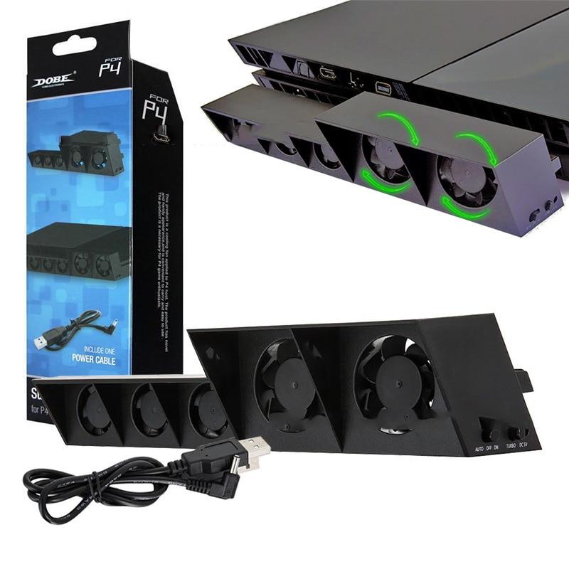 Ventilador de refrigeración para PS4 Playstation 4 Slim/PS4 Pro, consola de juegos, soporte Vertical, ventilador enfriador, Control de temperatura Super Turbo