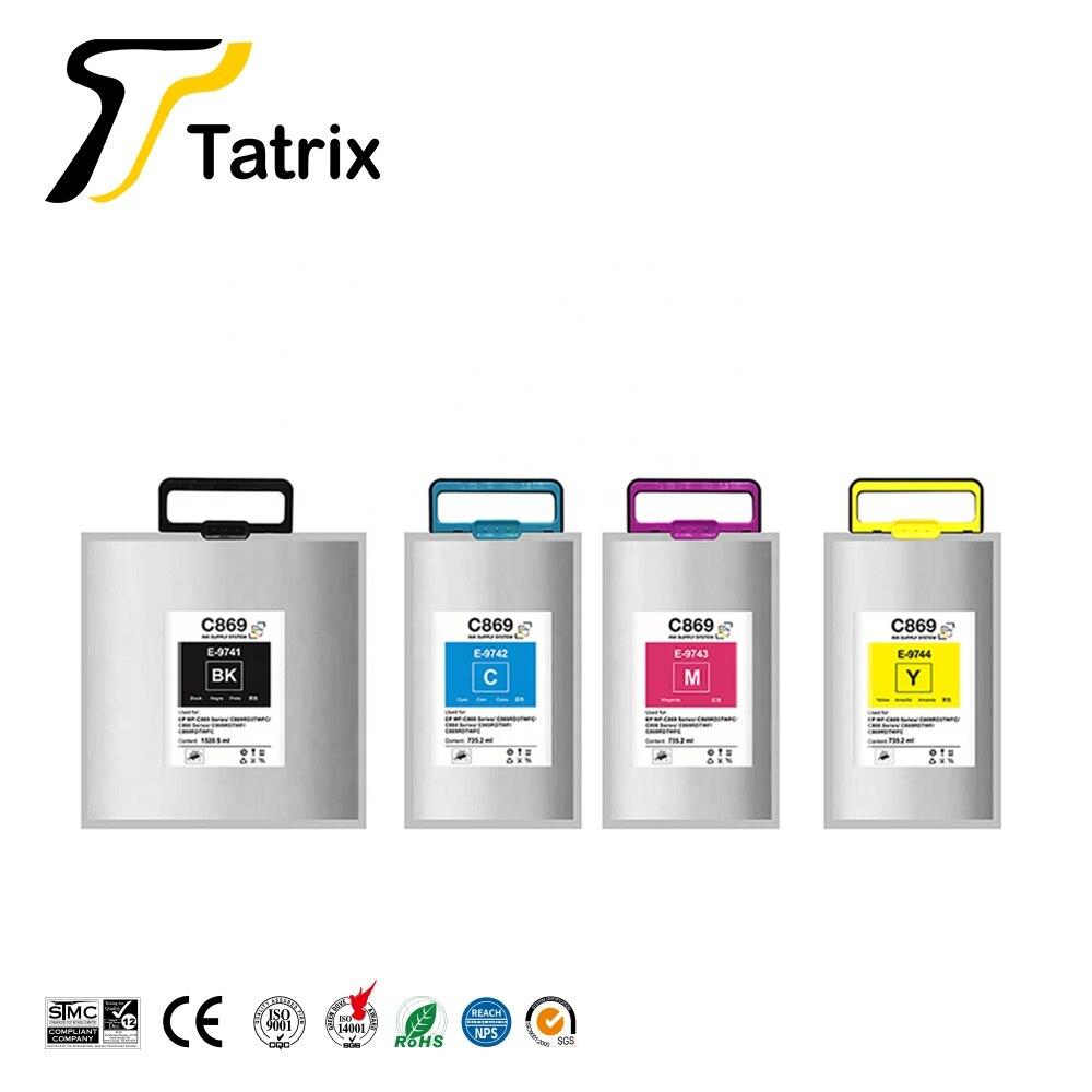 خرطوشة حبر متوافقة مع Tatrix T9741 T9742 T9743 T9744 لسلسلة Epson WF-C869Ra/WF-C869/C869RD3TWFC/C860Series/C869DRTWFC