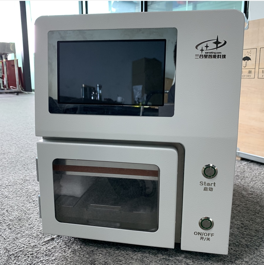 sameking newest oca vacuum laminator portable lamination machine for samsung edge screens repair