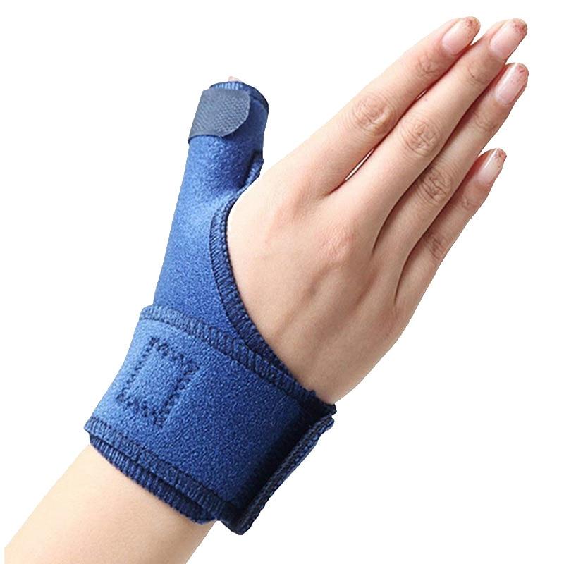 1 Uds torcedura de pulgar envolturas de apoyo para muñeca funda de tendón fractura de ratón fijo corrección de dedo deportes izquierda