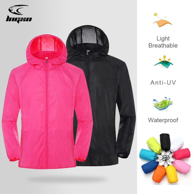 Men Women Hiking Jacket Waterproof Quick Dry Camping Hunting Clothes Sun-Protective Outdoor Sports Coats Anti UV Windbreaker