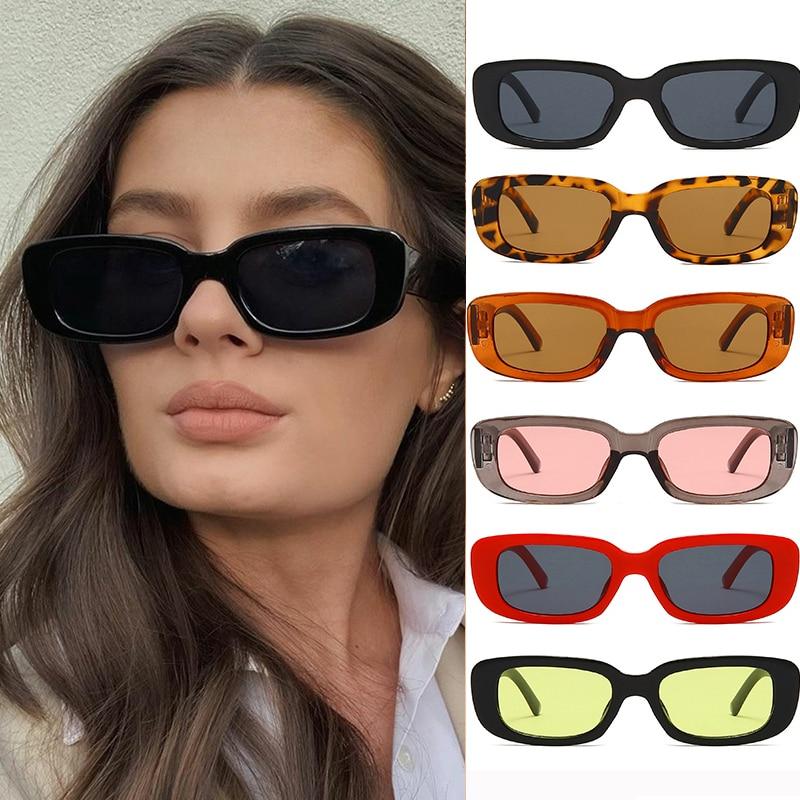 Fashion Sexy Small Rectangle Sunglasses Women Vintage Brand Designer Square Sun Glasses Shades Femal