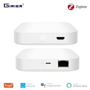 Tuya ZigBee шлюз мост, проводной/беспроводной умный концентратор, приложение Smart Life дистанционное управление, совместим с Alexa Google Home Assistant