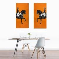 Moderne HD luxueux Figure cheval toile peintures mur Art photos pour salon Animal mode Style nordique decoration de la maison