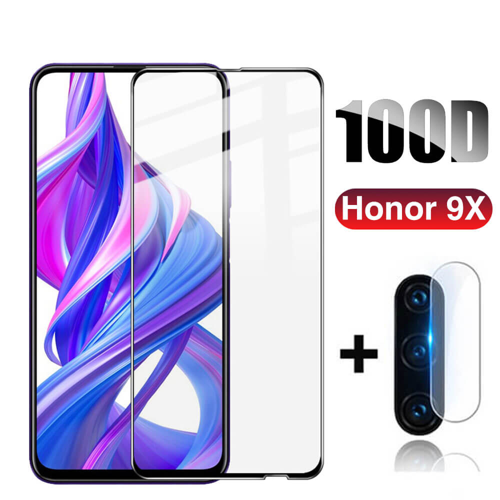 100D Защитное стекло для Huawei Honor 9X Премиум 3D закаленное стекло на Hono 9 X X9 Honor9x Honer 9X Защитная пленка для экрана