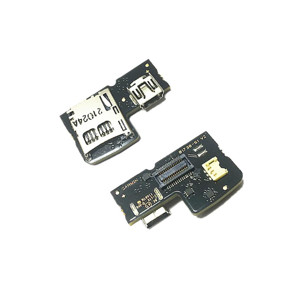 لوحة دارات مطبوعة للغارمين حافة 810 حافة بجولة حافة بجولة زائد مع miniUSB و microSD USB شحن ميناء جزء استبدال إصلاح