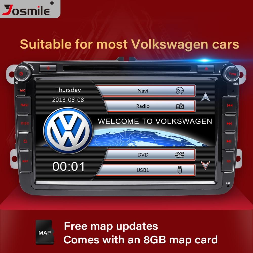 Reproductor DVD coche 2 Din Josmile para VW Volkswagen Passat b6 b7 Skoda Octavia Superb 2 T5 Golf 5 Polo Seat León Radio de navegación GPS