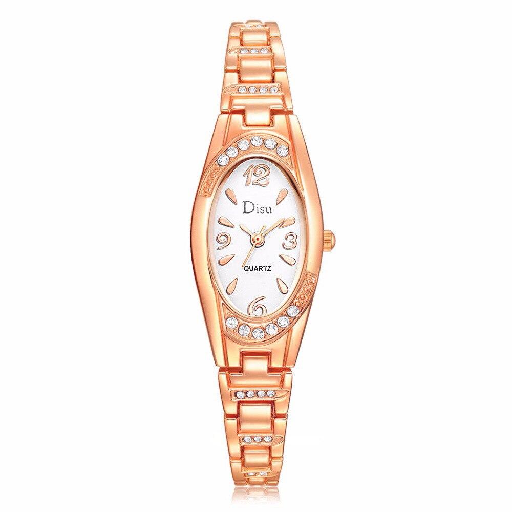 Relojes Zegarek Relogio Feminino Reloj Mujer vestido Reloj de Mujer chapado en oro rosa elegante pulsera de Mujer relojes de moda