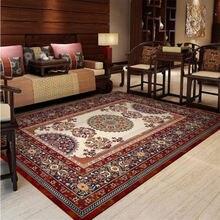 Tapis pour salon chambre tapis chinois persan rouge marron motif tapis tapis de sol salon Table accessoires tapis de noel