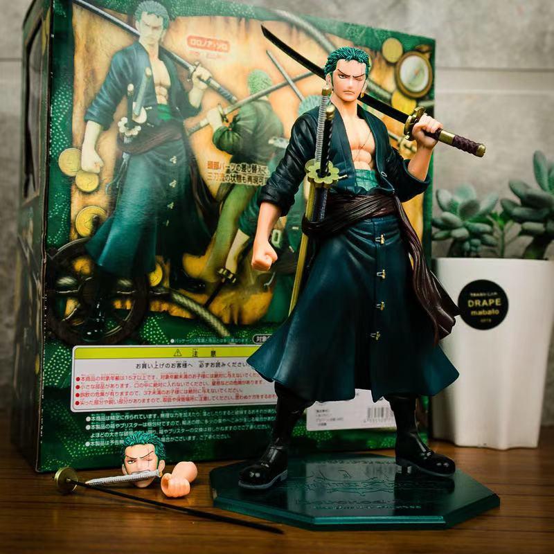 Peça Anime Figura Roronoa Zoro Ação Estatueta Vela Novamente Excelente Modelo Removível Collectible Coletar Brinquedo Menino Presente Uma Pop