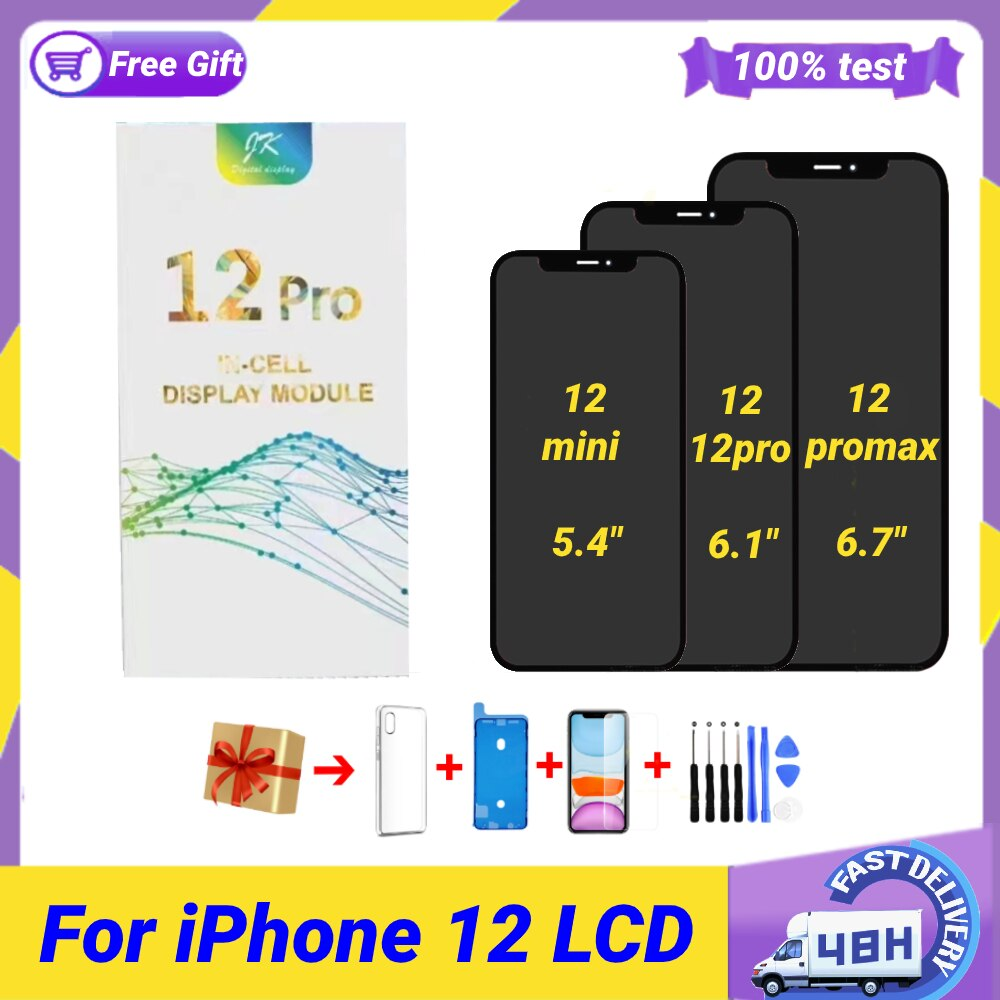 Review JK Incell For iPhone 12 Pantalla for IPhone12 12 Pro Lcd Replacement Screen Display With 3D Digitizer Full Assembly Free Gifts