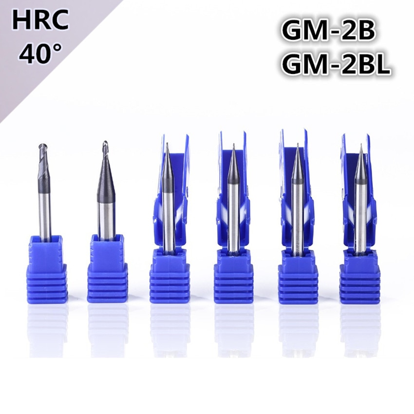 ZCC.CT GM-2B-R0.5S/GM-2B-R0.75S/GM-2B-R1.0S/GM-2B-R1.25S/GM-2B-R1.5S/GM-2B-R2.0S Two edge ball end mill with straight shank