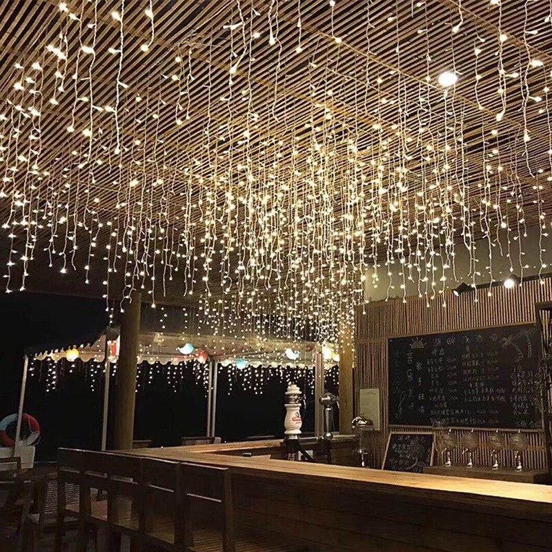 Lód lampa na barek dziedziniec elektroniczny kolor lampa lampa wodna lampa kurtyna festiwal tło dekoracje ślubne latarnia hurtownia
