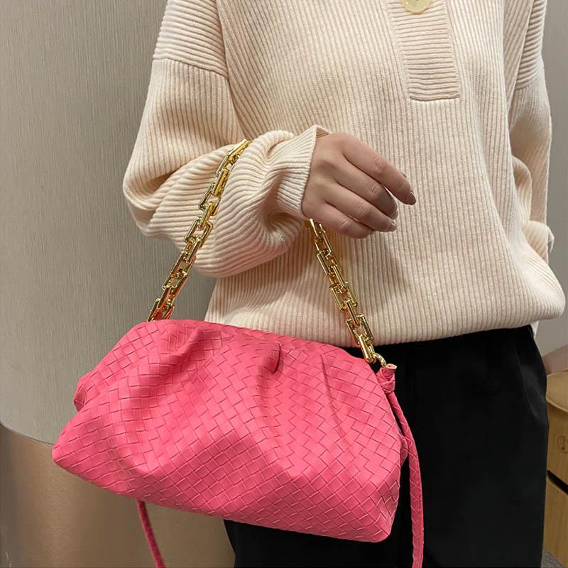 2021 New Fashion Pleated Chain Handbag Luxury Brand Versatile Simple one Shoulder Bag Cloud Bag Women Brand Dumpling Hand Bag