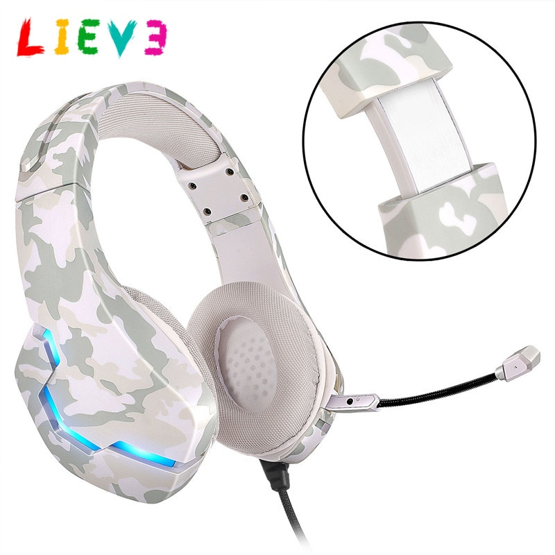 LIEVE 7 Color LED Gamer Headset For Computer PS4 PS5 Fifa 21 Gaming Headphones Bass Stereo PC Wired Headset With Mic