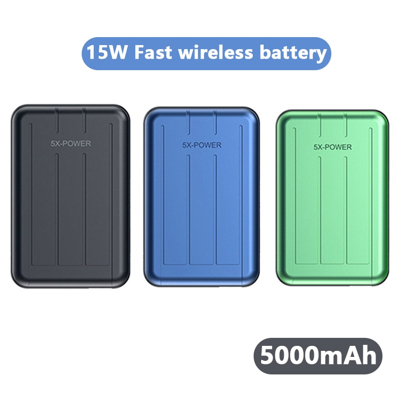 Power Bank 10000mAh Magnetic Wireless External Battery For Magsafe powerbank 15W Fast Charger For iphone12 12Pro 12proMax 12mini