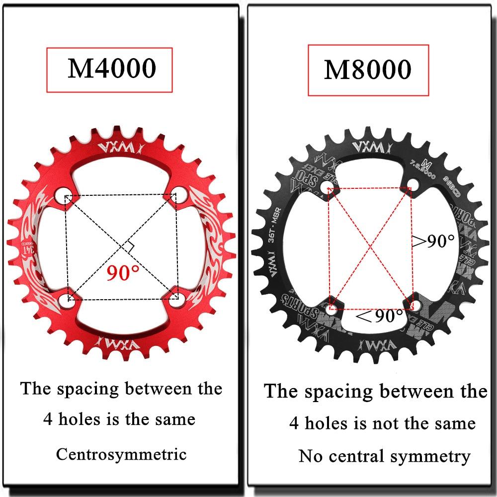 96bcd bicicleta chainwheel 30t 32t 34t 36t 38t mtb bicicleta coroa de montanha redonda para m4000 m7000 m8000 m9000 gx nx x1 manivela