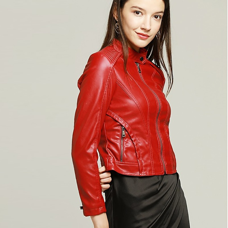 OLOMM OC2020  NF7006E Women's Clothing Fake Leather Matte New Coat Top Quality DHL Free Shipping enlarge