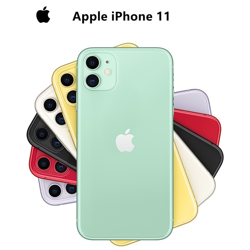 Used Apple iPhone 11 6.1 inch Unlocked Smartphone Full Retina OLED Display 4G LTE Dual 12MP Camera A13 Chip IOS Mobile Phones