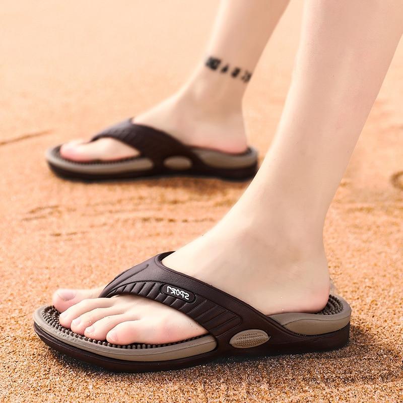 Massage Flip-flops Summer Men Slippers Beach Sandals Comfortable Men Casual Shoes Fashion Men Flip Flops Hot Sell Footwear 2019