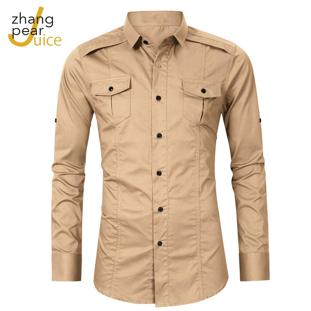 Men Casual Solid Shirt Long Sleeve Slim Fit Male Shirts Men Turn Down Collar Button Shirt Blouse zusigel collar white shirt double breasted black shirt mandarin collar shirt for men long sleeve slim fit muslim shirts men
