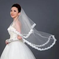 fashion luxury bridal tulle bridal veil pearl wedding veil with hair comb 1 tier long wedding veil cathedral wedding veil
