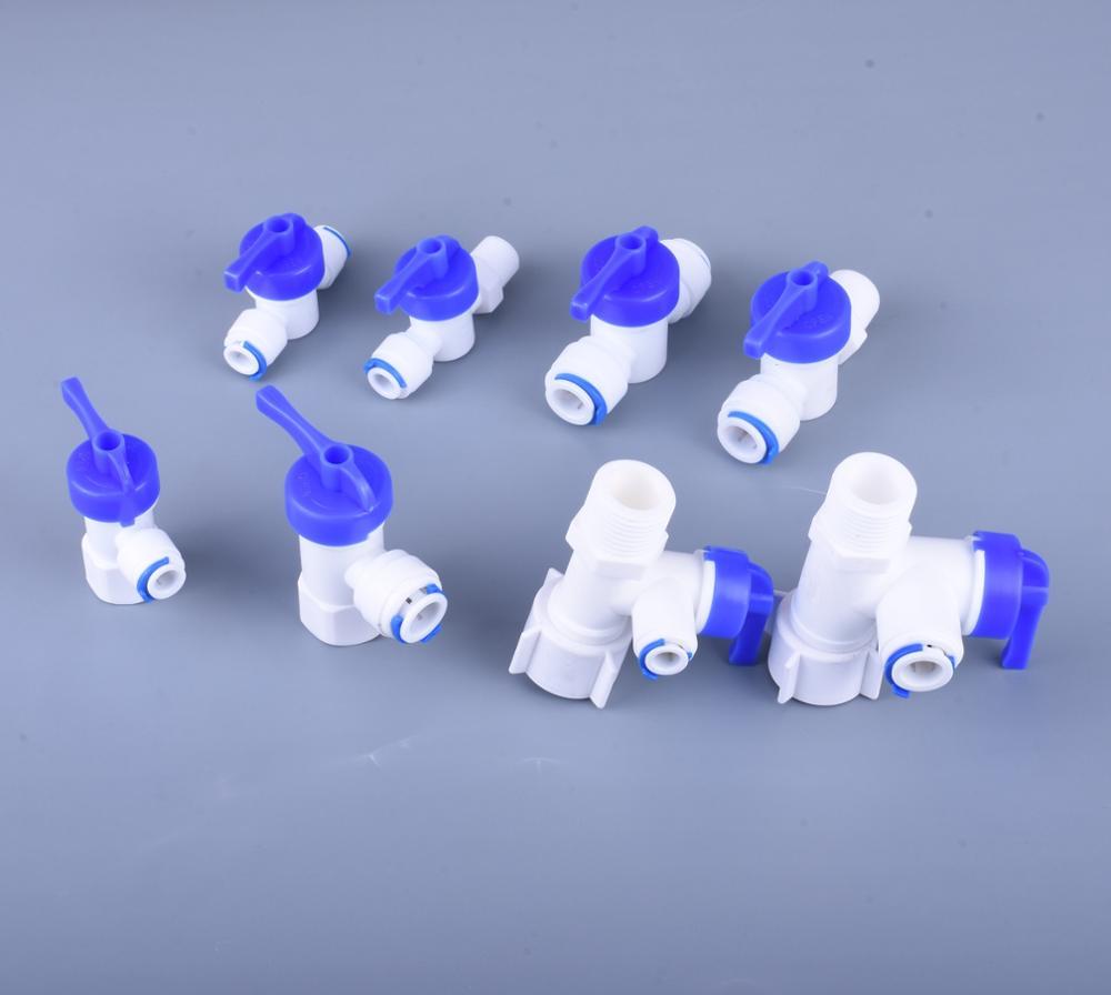 Conector rápido especializado, válvula roscada, accesorio de filtro de agua potable para familia, sistema de ósmosis inversa de filtro RO