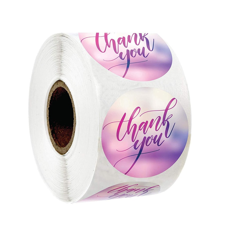 Thank You Stickers 1inch purple Stickers for Company Giveaway & Birthday Party Favors Labels & Mailing Supplies Festival
