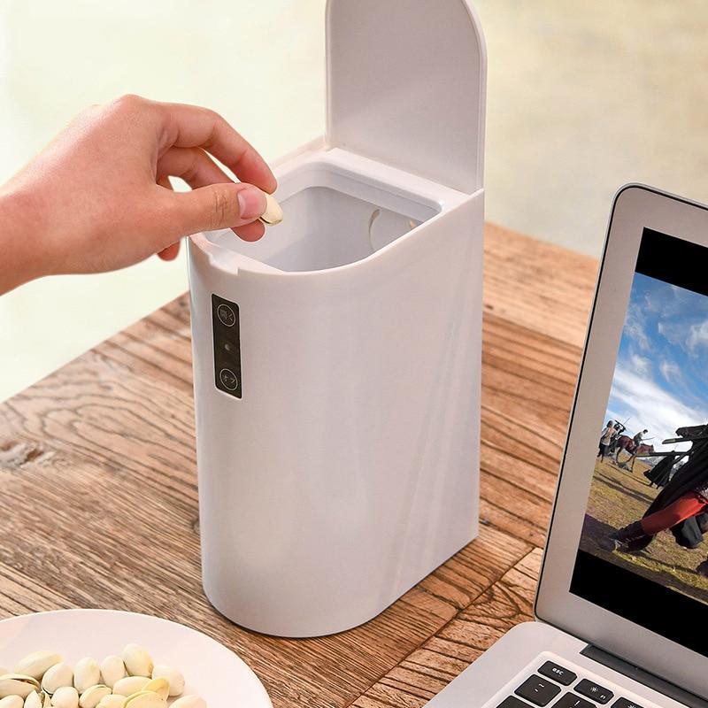 ホームインテリジェントな自動誘導電動ごみごみ箱スマート廃棄物ビンごみ缶タッチレスミニごみ箱