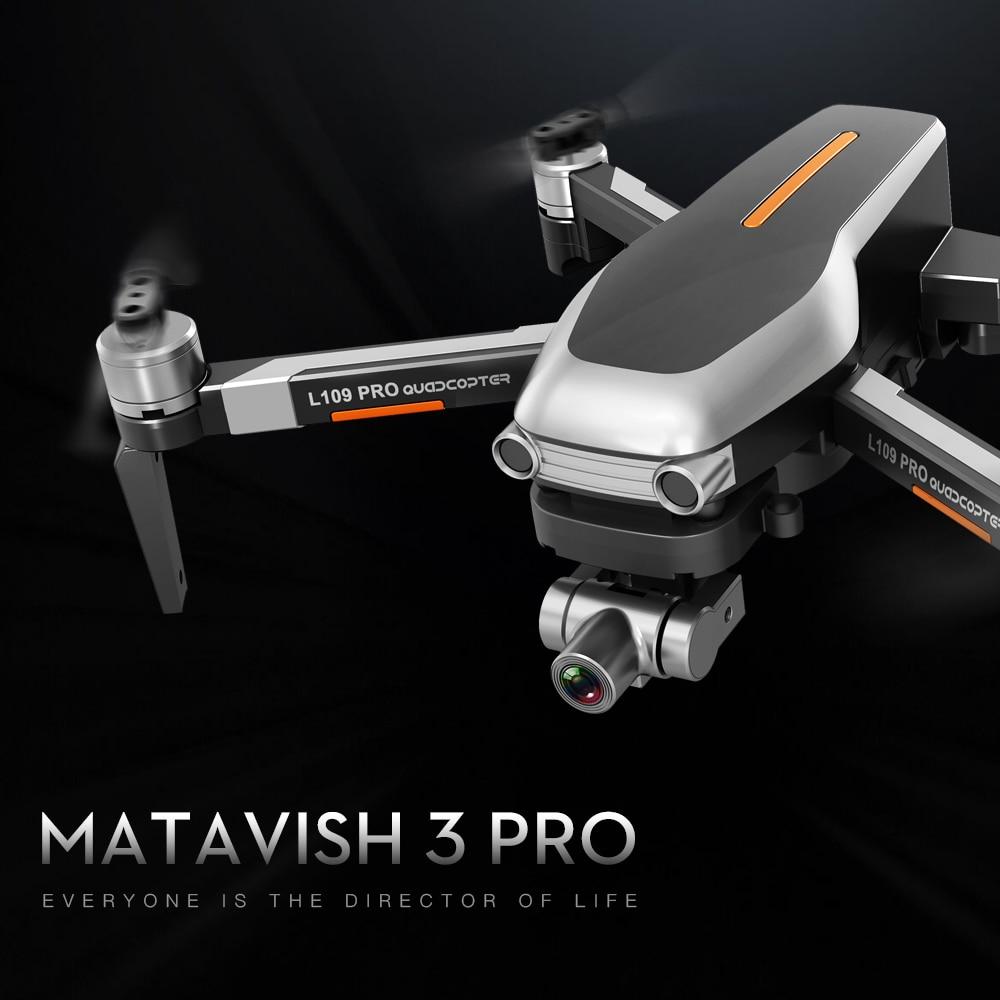 طائرة MATAVISH 3 PRO GPS بدون طيار 4K, كوادكوبتر ميكانيكية ، ذات محورين ، مضادة للاهتزاز ، 5G ، واي فاي ، FPV ، 1.2 كجم ، HD ESC ، كاميرا احترافية