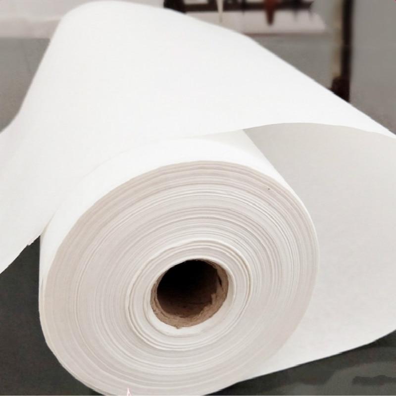 Rollo de papel de arroz crudo chino Xuan, papel de pintura de caligrafía, papel de pintura semimaduro crudo Xuan Zhi Rijstpapier Carta Di Riso
