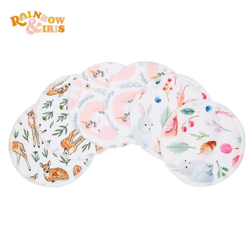 Подушка для кормления радужной и радужной расцветки, впитывающие подушки для кормления грудью для мамы, лактация, 6 цветов