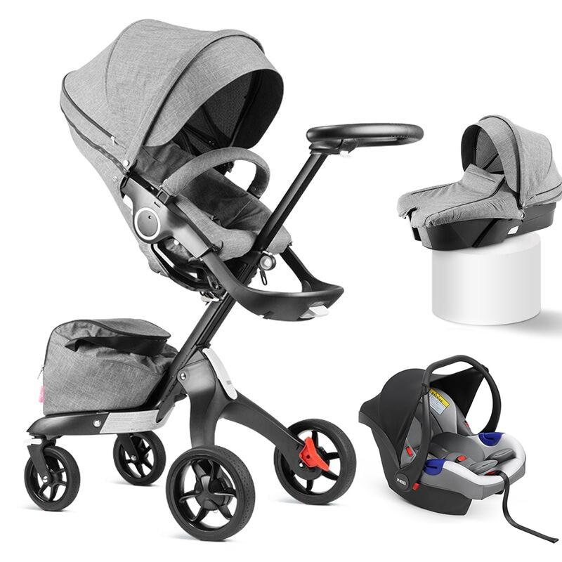 Baby Stroller Luxury High Landscape Baby Carriage Pram Newborn Baby Bassinet Light Folding Baby Pushchair Umbrella Baby Cart enlarge