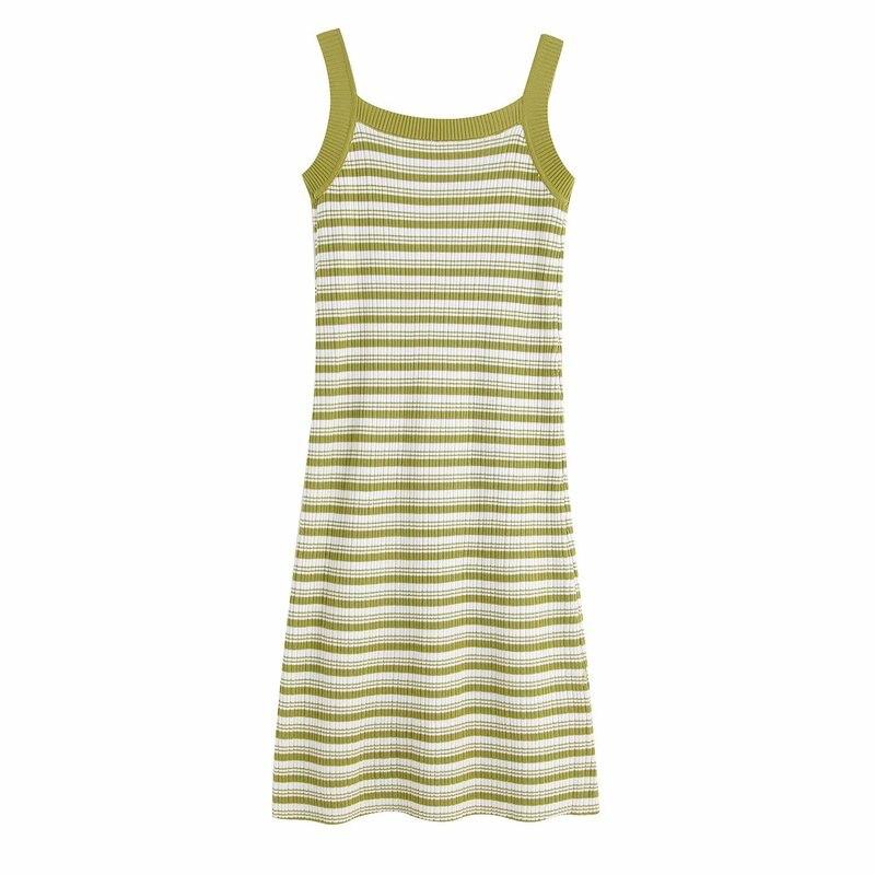 Fashion New BB55-9532 European and American fashion wind restoring ancient ways stripe knit dress