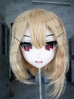 rabbit 07 handmade female resin crossdress pretty girl head lolita doll mask japanese anime cosplay kigurumi mask crossdresser