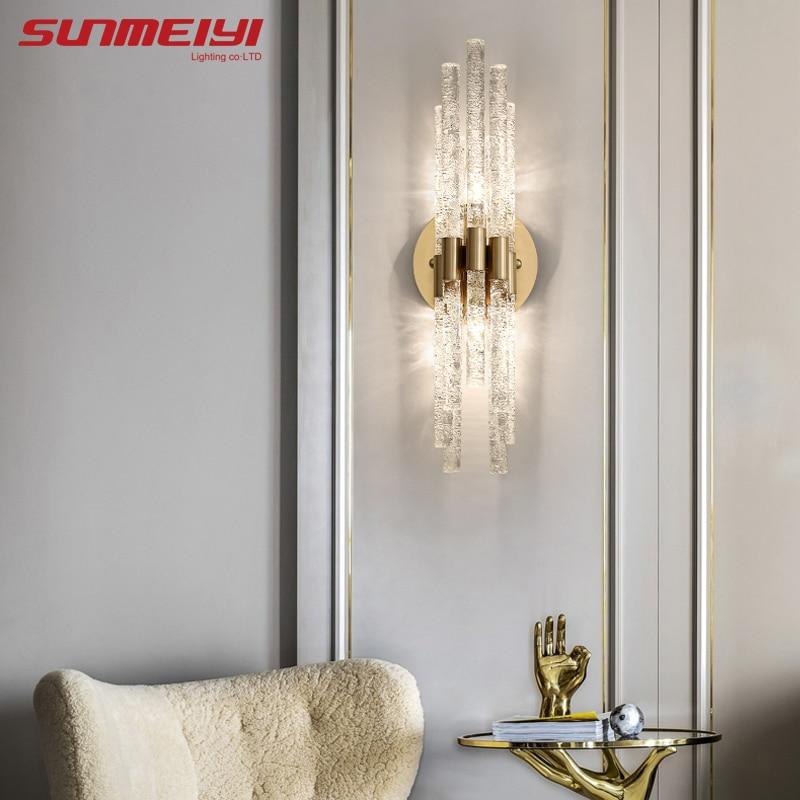 الفاخرة مصابيح الحائط الكريستال بار وحدة إضاءة Led جداريّة ضوء لغرفة النوم السرير غرفة المعيشة ديكور الدرج الممر ضوء المنزل داخلي الإضاءة