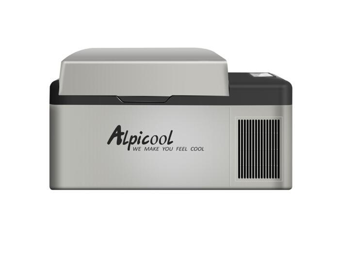 Alpicool compressor de carro casa 2use 20l casa pequena geladeira viagem ao ar livre mini carro geladeira congelamento rápido