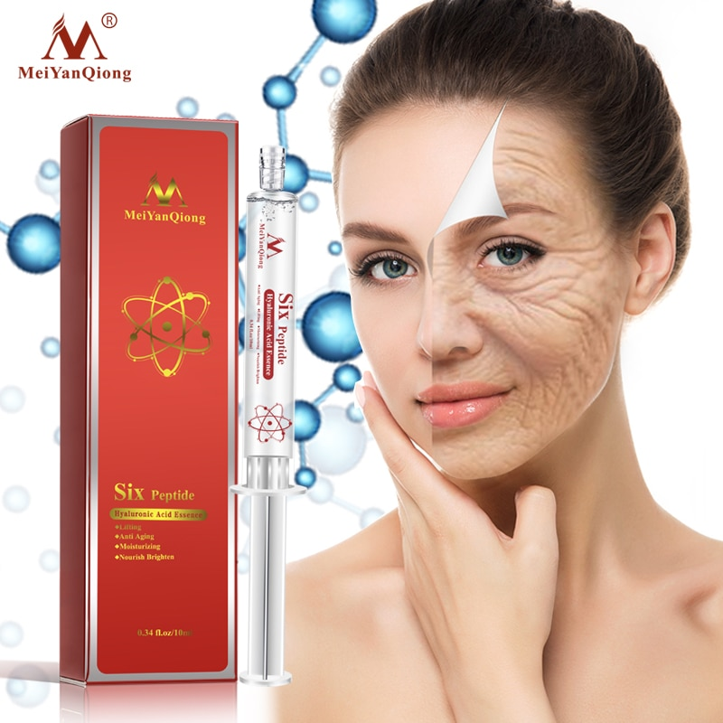 Meiyanqiong Six Peptide Hyaluronic Acid Essence Anti Aging Anti Wrinkle Lifting Face Serum Deeply Repair Concentrate Skin Care недорого