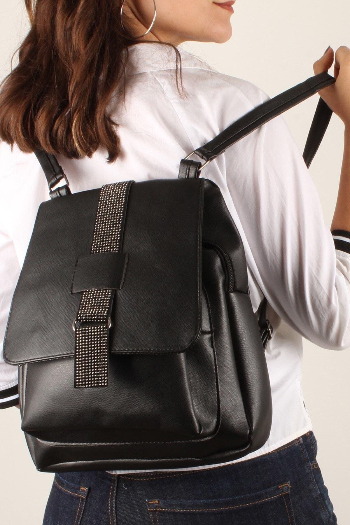 Женский черный рюкзак и сумка, Модный стильный женский черный рюкзак из искусственной кожи и стильная сумка из искусственной кожи