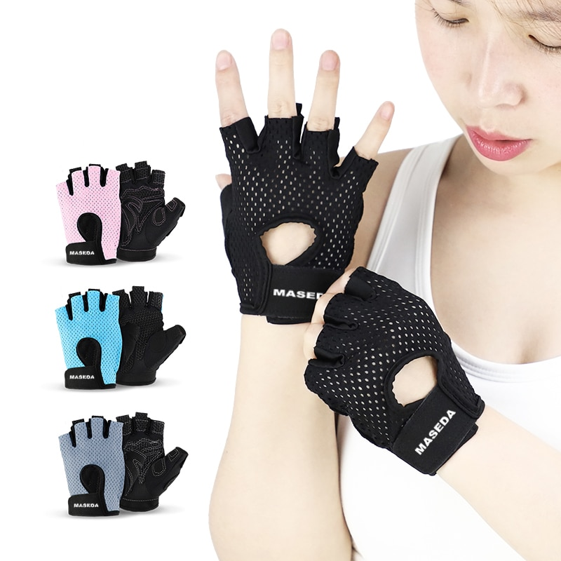 MASEDA Silicone Thickened Gasket Women's Gloves Wear Resistant Gel Cycling Glove Equipment Sports En