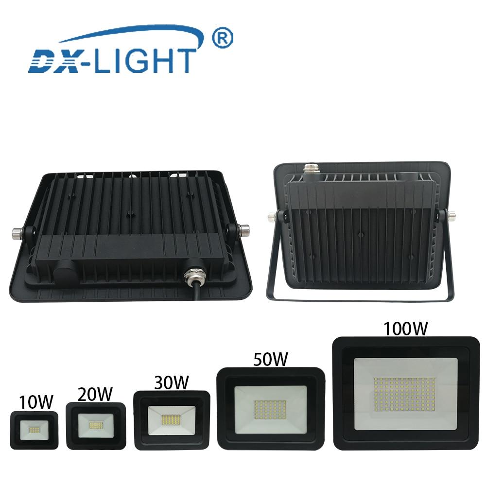 Waterproof IP68 LED Work Light 10W 20W 30W 50W 100W Engineering Light 220V 230V 240V LED Outdoor Lighting Wall Lamp Floodlight
